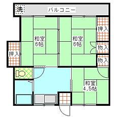 弥平台ハイツA[202号室]の間取り
