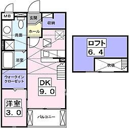 ブライト ホルン[2階]の間取り