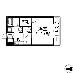 K's Residence瓢箪山(ケーズレジデンス)[301号室号室]の間取り