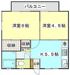 津久井ミネルバ館[201号室]の間取り