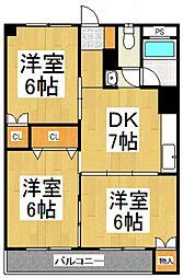 蓮見マンション[5階]の間取り