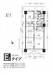 藤和東加古川ハイタウンB棟[1104号室]の間取り
