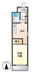 愛知県名古屋市中区千代田1丁目の賃貸マンションの間取り
