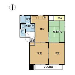 プログレ C棟[201号室]の間取り