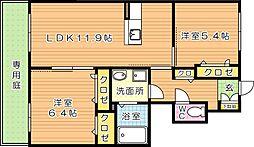 シャーメゾン畠田II[1階]の間取り