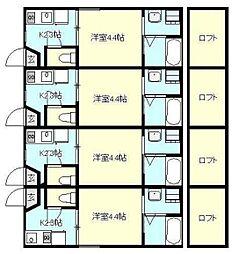 Hermitage de Yokosuka Kinugasa[104号室]の間取り