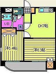 愛媛県松山市柳井町1丁目の賃貸マンションの間取り
