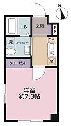 都営浅草線 浅草駅 徒歩6分の賃貸マンション 5階1Kの間取り