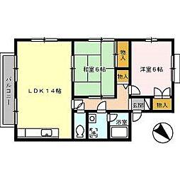 セジュール吉岡 D棟[2階]の間取り