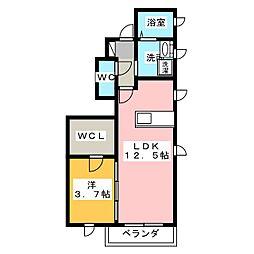 OLYMPIA[1階]の間取り