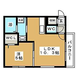 BLANCO麻生[4階]の間取り