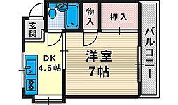 京口ハウス[101号室]の間取り