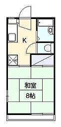 エクセレントベルA[2階]の間取り