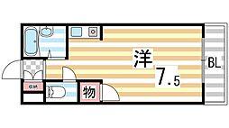 メゾン錦[402号室]の間取り