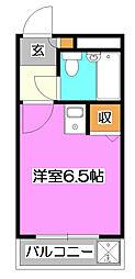煉瓦館68[2階]の間取り