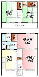 [テラスハウス] 埼玉県熊谷市銀座4丁目 の賃貸【/】の間取り