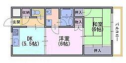 トモヒサ1[202号室]の間取り