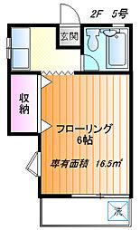 エトワール桜ヶ丘[205号室]の間取り
