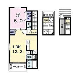 八坂町アパート[0302号室]の間取り