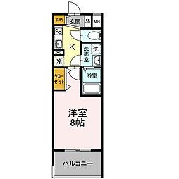D-room早稲田[1階]の間取り