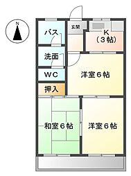 アーバンヒルズT1[3階]の間取り