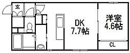 PLAZA M−7[402号室]の間取り