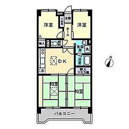 新栄アンピール筑紫通り[7階]の間取り