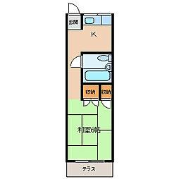 レジデンス城[2階]の間取り