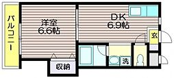 第七島田マンション[105号室]の間取り