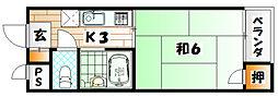シャトレ天神I[306号室]の間取り