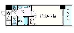 プレサンス心斎橋タイミックス[12階]の間取り