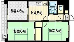 アバンセスドー2[2階]の間取り