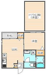 グランディール箱崎[2階]の間取り