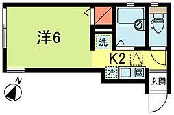 東京都中野区弥生町6丁目の賃貸アパートの間取り