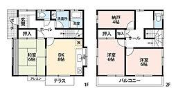 [一戸建] 東京都武蔵村山市伊奈平6丁目 の賃貸【/】の外観
