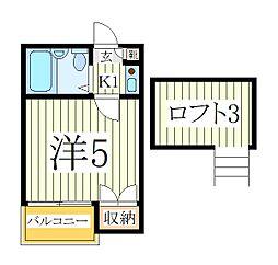 ハイムプリマヴェーラ[2階]の間取り