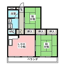 弓和ガ−デンハウスS棟[3階]の間取り