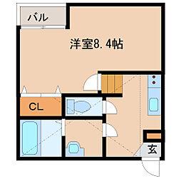 兵庫県尼崎市西本町北通4丁目の賃貸アパートの間取り