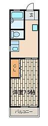 第2ユーコー木倉[2階]の間取り