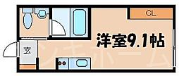 広島県安芸郡海田町畝2丁目の賃貸アパートの間取り