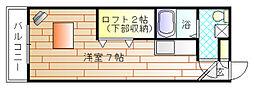 アパートメントスクエア[2階]の間取り
