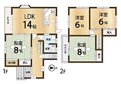 全居室ひろびろ6帖以上。屋根裏収納のあるお家です。