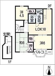 サニーコート波木II[2階]の間取り