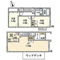 [一戸建] 神奈川県横浜市港北区大曽根3 の賃貸【/】の間取り