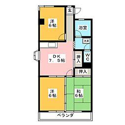 愛知県名古屋市名東区高針1の賃貸マンションの間取り