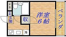DS千林[303号室]の間取り