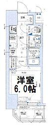 グランカリテ大阪城イースト 9階1Kの間取り