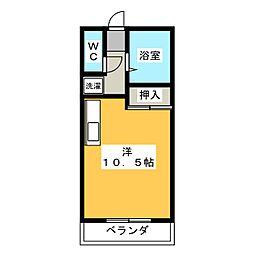 レスポワール今宮[1階]の間取り