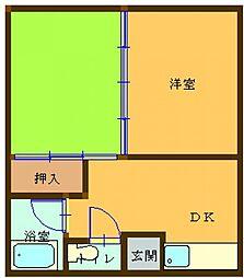 KYOWAコーポ 102号室[102号室]の間取り