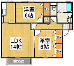 リーベンハウス[1階]の間取り
